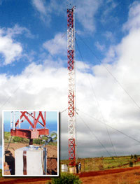 Steel beacon towers from Swager Communications